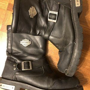 HARLEY DAVIDSON LEATHER LACE UP Boots Mens 10
